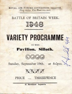 Battle Britain Week RAF Variety Poster Pavilion 1948 BH Silloth History