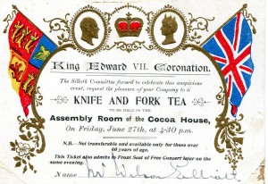 Edward 7 Coronation Cocoa House Silloth 1902 Kathleen Story