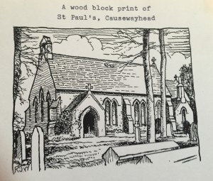 Woodblock St Pauls Silloth
