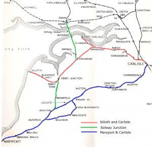 map railway line Silloth