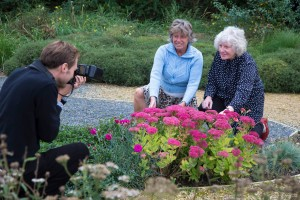 Anne and Joan in Community Garden