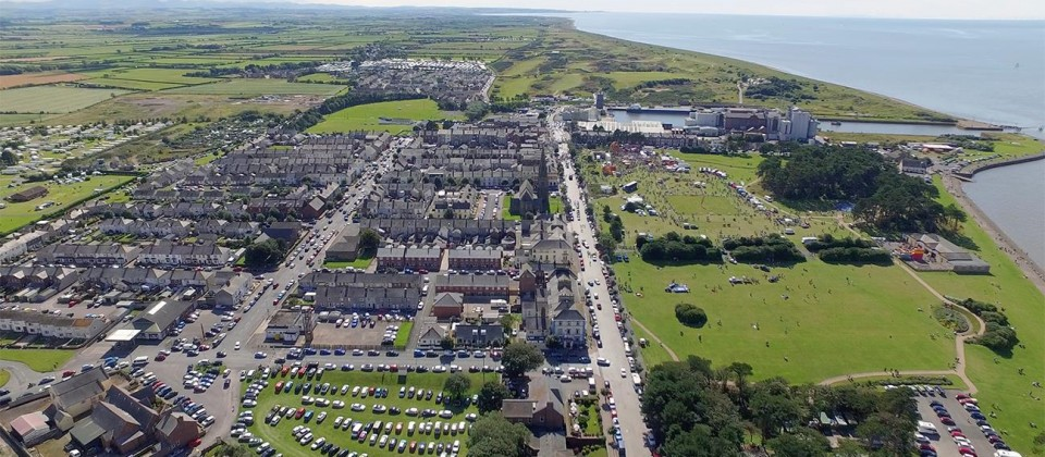 Aerial of Silloth on event day 2015