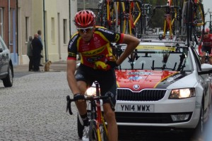 Cyclist 1 Tour Britain Silloth 2015