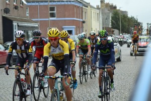 Cyclists 1 Tour of Britain Silloth