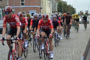 Cyclists on Setts Tour of Britain Silloth