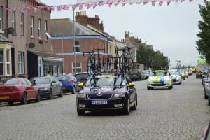 The Tour cars arrive