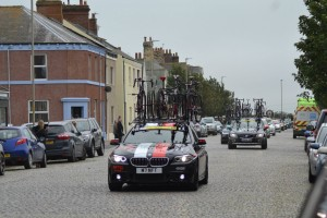 Tour cars and spare bikes arrive