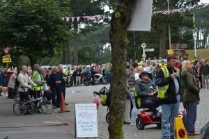 crowds awaiting Tour Britian Silloth Spt 2015