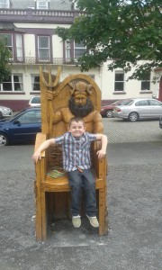 Big brother on story telling chair