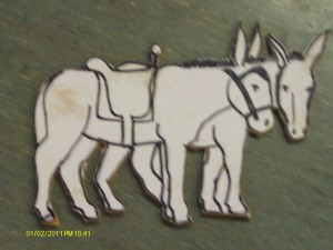 Donkeys paper pattern