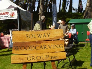 Solway Woodcarving Group sign