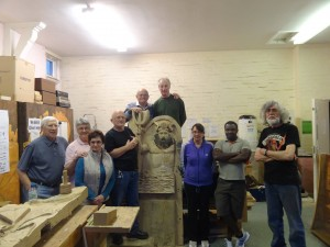 Woodcarving Guys and chair