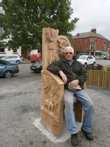 man on story telling chair