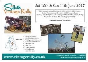Vintage rally flyer 2017